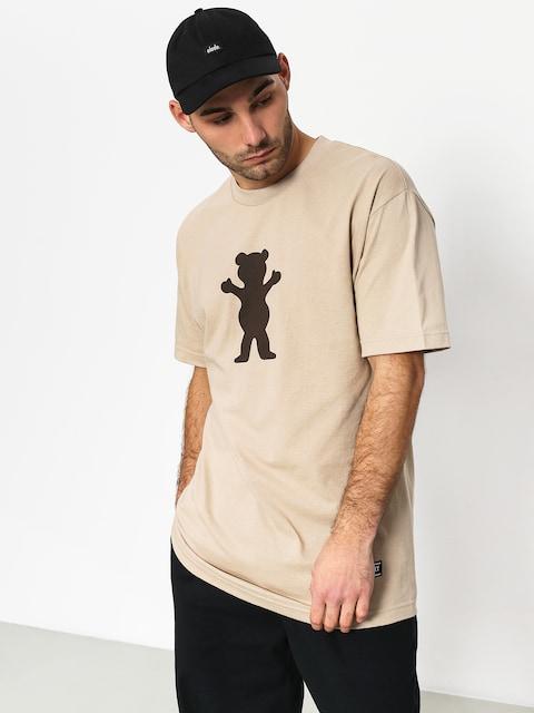 Tričko Grizzly Griptape Og Bear Basic Tee (sand)