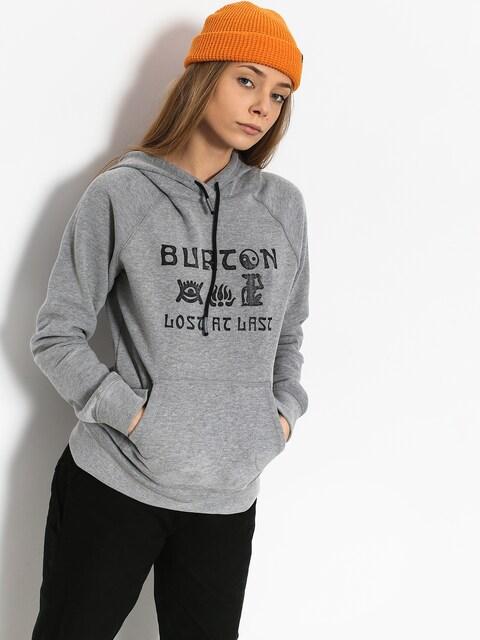 Mikina s kapucí Burton Lingate HD Wmn (gray heather)