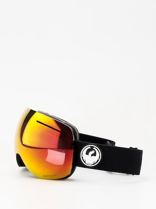 Bru00fdle na snowboard Dragon X1 (black/lumalens red ion/lumalens rose)