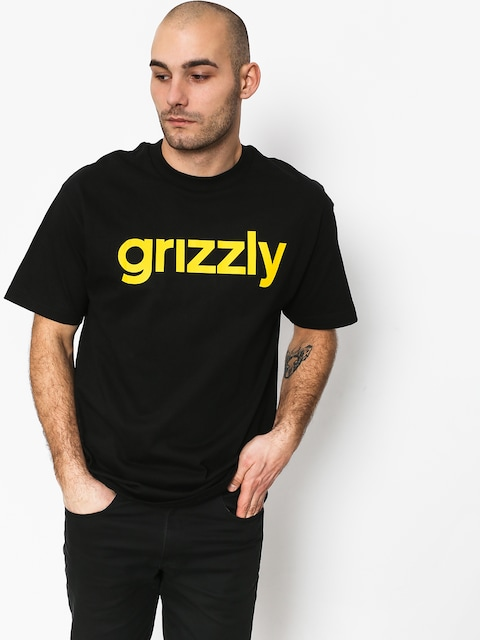 Tričko Grizzly Griptape Lowercase Tee (black)