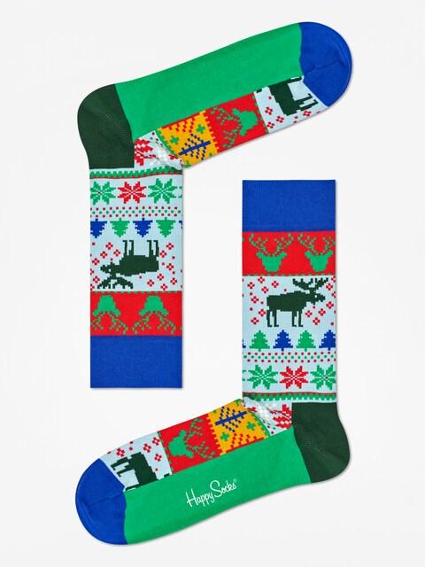 Ponožky Happy Socks Fair  Isle (blue/green/red/white)