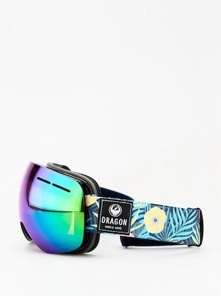 Brýle na snowboard Dragon X1s (aloha/lumalens green ion/dark smoke)