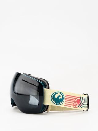 Brýle na snowboard Dragon X1s (terra/dark smoke/lumalens silver ion)