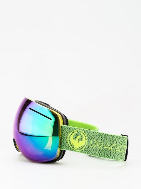 Brýle na snowboard Dragon X1 (mill/lumalens green ion/l amber)