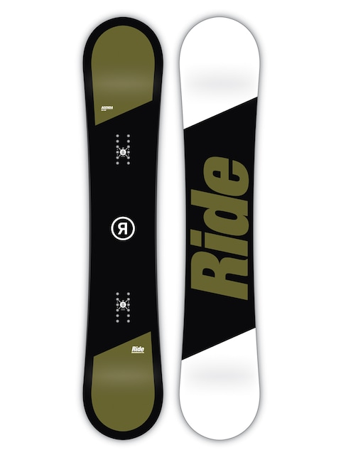 Snowboard Ride Agenda (black/green/white)