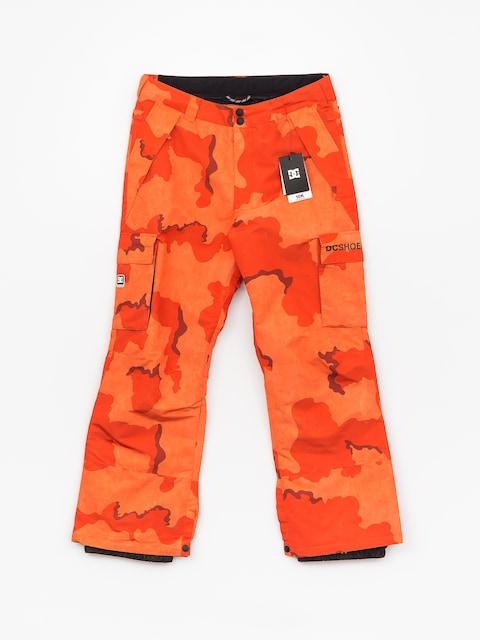 Snowboardové kalhoty  DC Banshee (red orange dcu camo)