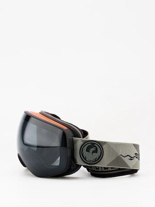 Brýle na snowboard Dragon X2s (gigi ruf sig/dark smoke/lumalens flash blue)