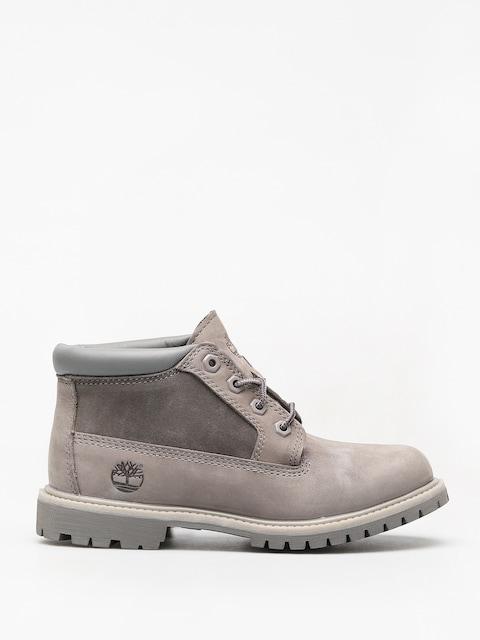 Zimní boty Timberland Nellie Chk Lthr Sd Nwp Wmn (steeple grey)