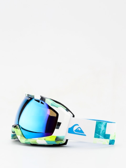 Brýle na snowboard Quiksilver Fenom Art Serie (check atomic green)